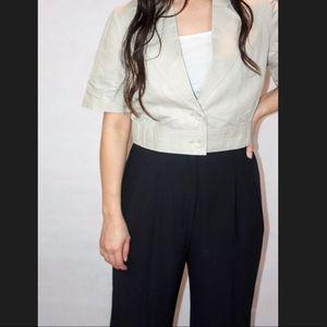 Waisted Short Sleeve Blazer